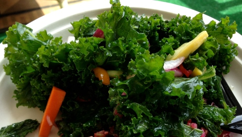 Organic Kale Salad For Cancer Protection