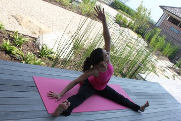 Wide Angle Side Stretch Yoga Pose For Breast Cancer