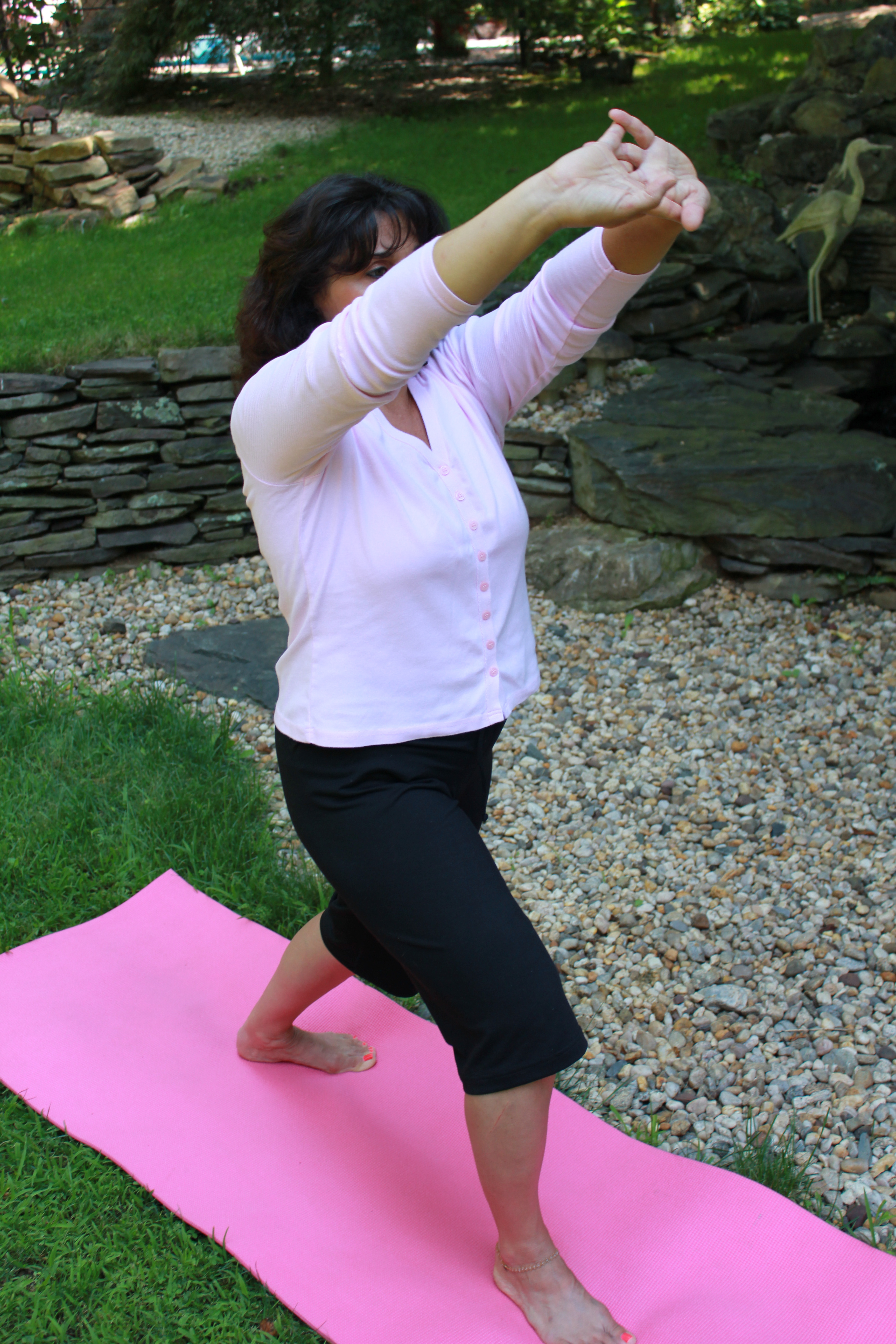 Easy Warrior Pose For Breast Cancer And Lymphedema ...