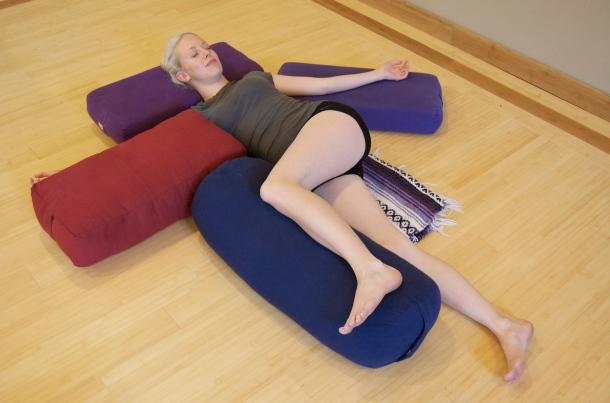 Side Child Twist Yoga Pose