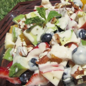 Breast Cancer Fruit Salad