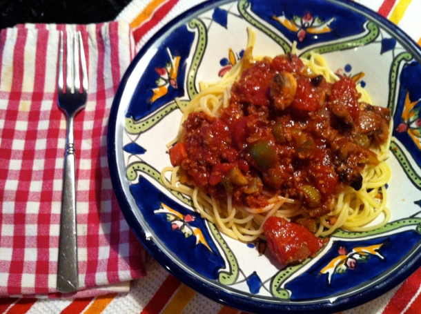 Breast Cancer Vegan Pasta With Chunky Tomato