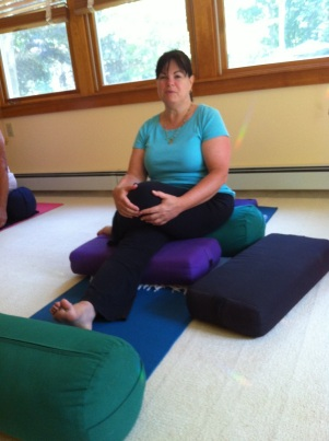 Half Serenity Seat Yoga Pose For Breast Cancer