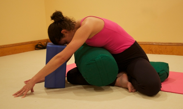 Slumpy Swami Yoga Pose For Breast Cancer