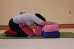 Challenging Child Yoga Pose For Breast Cancer