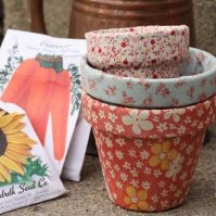 Fabric Flower Pots