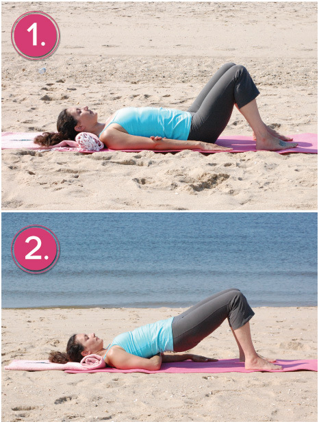 Arms Under Chest Yoga Pose For Breast Cancer
