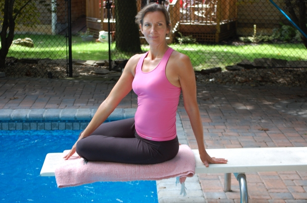 Breast Cancer Yoga's Beginner's Twist Pose