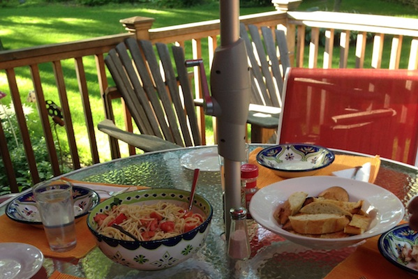 Summer Pasta Recipe For Dining Outdoors