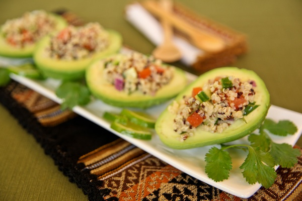 Quinoa Salad Stuffed Avocado Recipe For Breast Cancer Prevention