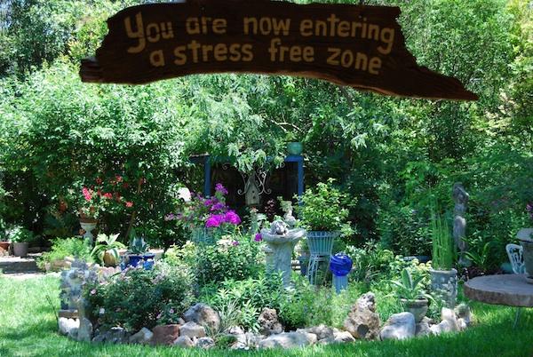 Breast Cancer Gardening Therapy - Garden Art