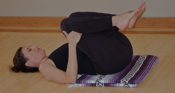 Knees To Chest Yoga Pose For Breast Cancer