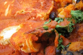 Sweet Potato, Black Bean & Kale Enchilada