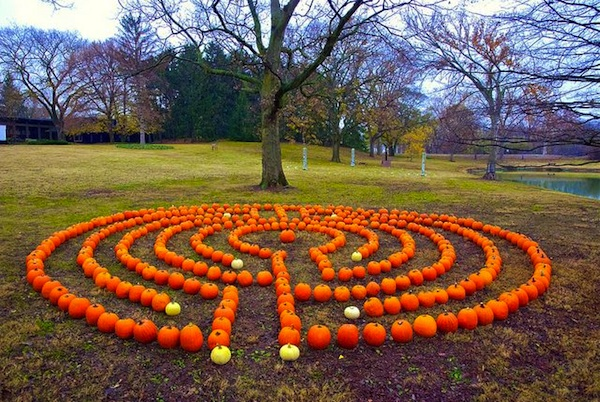 Breast Cancer Fall Garden Labyrinth