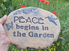 Breast Cancer Healing Garden Stepping Stone