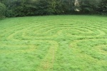 Backyard Grass Labyrinth