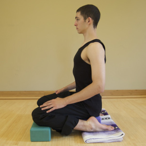 hero-pose-for-restorative-breast-cancer-yoga