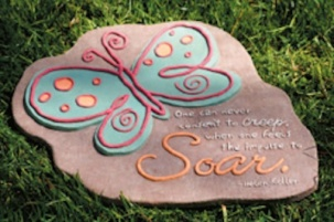 Inspirational Butterfly Stepping Stone