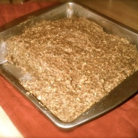 No bake recipe for flax bran fruit bars