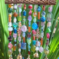 Beaded Wind Chime For Healing Garden