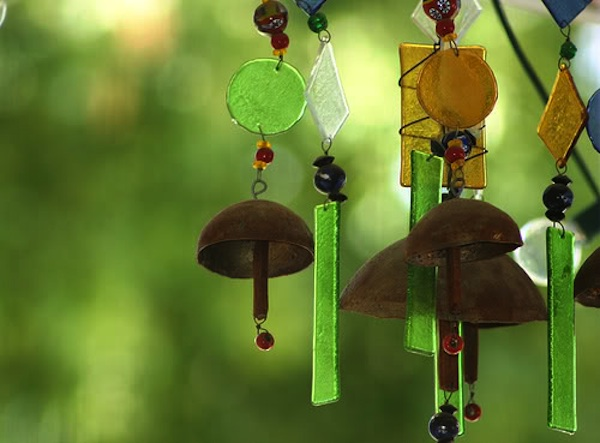 Breast Cancer Healing Garden Wind Chimes