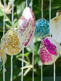 Pretty Painted Seashell Wind Chime