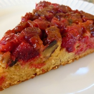 Vegan Orange Cranberry Upside-Down Cake