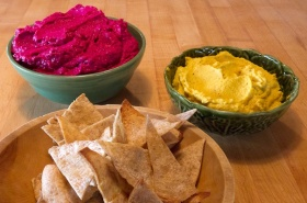 Beet, Black Bean & Carrot Hummus Recipes For Cancer Diet