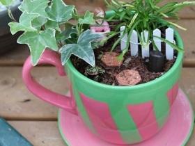 Breast Cancer Dish Garden In A Mug
