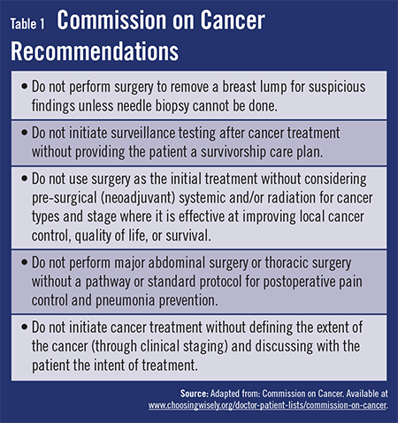 Cancer Treatment Standards
