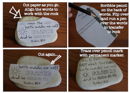 Diy inspirational painted rocks for a breast cancer healing garden