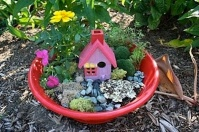 Fairy Dish Garden Idea For Breast Cancer