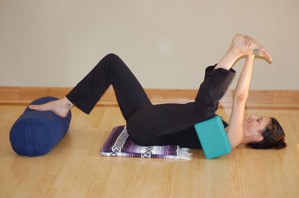 Half Happy Baby Yoga Pose