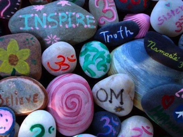 Inspirational Painted Rocks For A Breast Cancer Healing Garden