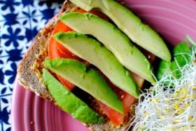 Broccoli Sprout & Hummus Sandwich