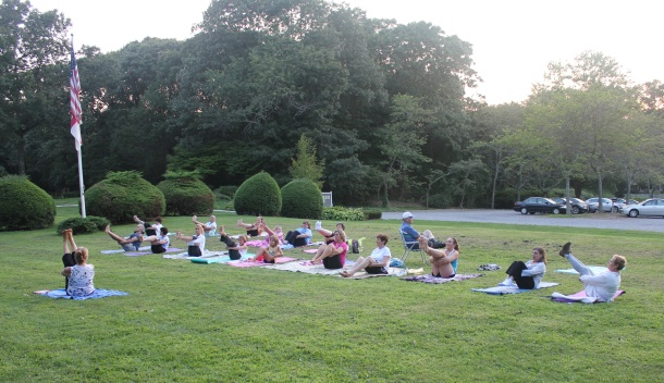 Yoga On The Lawn With Diana Ross, Breast Cancer Survivors & Family Members.