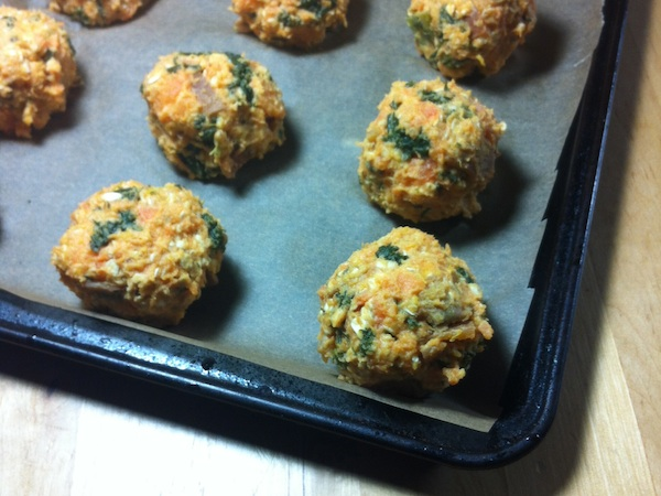 St. Patty's Day Potato Kale Balls For Breast Cancer Diet