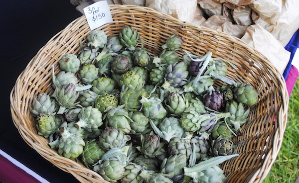 Artichokes Fresh At April Farmers Market
