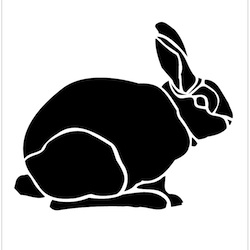 Breast Cancer Authority Blog Garden Bunny Stencil