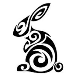 Breast Cancer Authority Blog Garden Rabbit Stencil