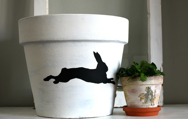 Breast Cancer Authority Bunny Flower Pot Idea For Healing Garden