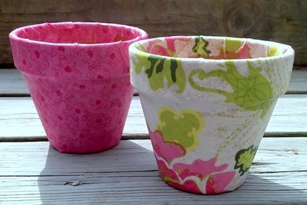 Breast Cancer Authority Mod Podge Flower Pot Idea For Healing Garden
