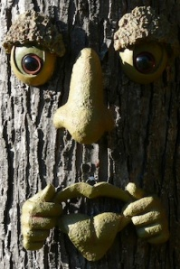 Funny Face Tree Art