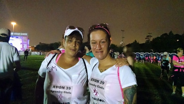 Cathie Paulino Williamson Walking For Breast Cancer Yoga Family Member Valerie