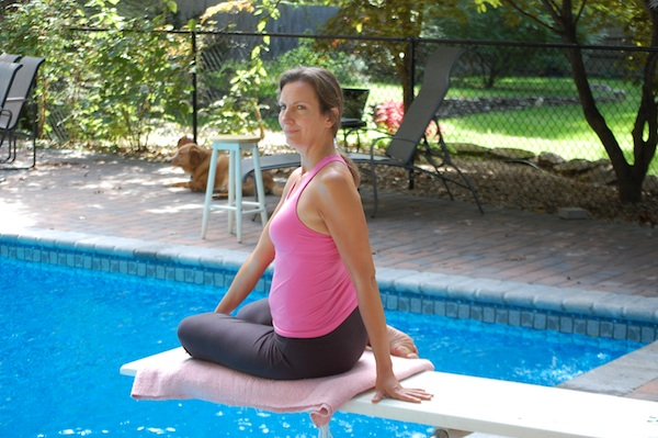 Easy Twist Yoga Pose For Breast Cancer
