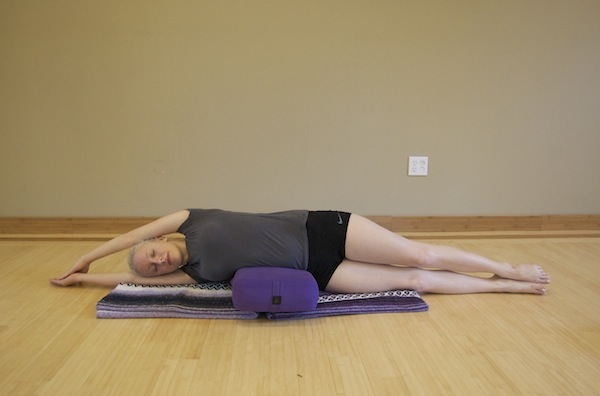 Side Body Stretch Yoga Pose For Breast Cancer
