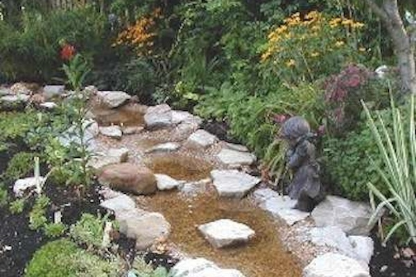 Water Stream For Breast Cancer Garden