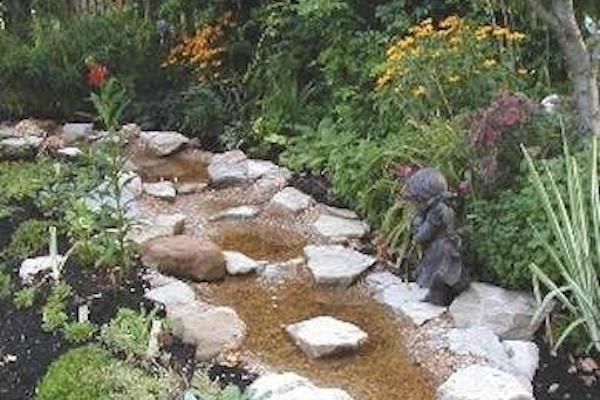 Water Stream For Breast Cancer Garden