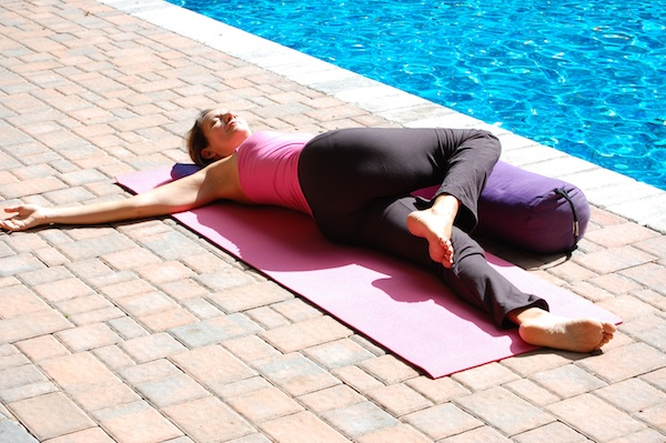 Btreast Cancer Yoga's Hip Side Twist Pose