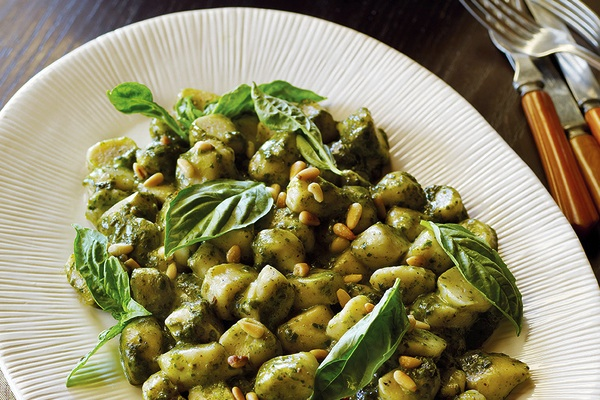 Gnocchi And Basil Pesto Sauce For Breast Cancer Prevention